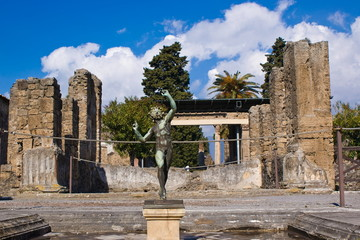The house of foun, archeological excavations of Pompeii
