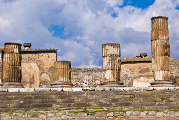 The temple off Jupiter, archeological excavations of Pompeii