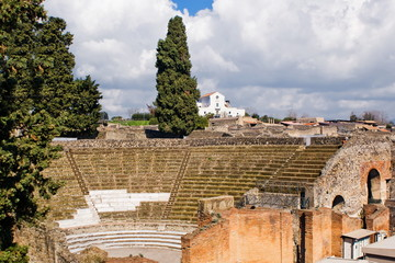 The theatre, Archeological excavations of Pompeii