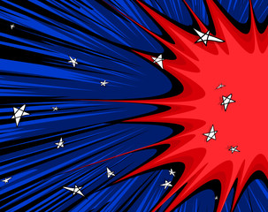 Abstract Comic Stars Background