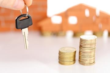 Haus und Schlüsselübergabe