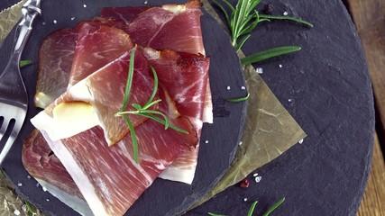 Ham Slices (not seamless loopable 4K UHD footage)