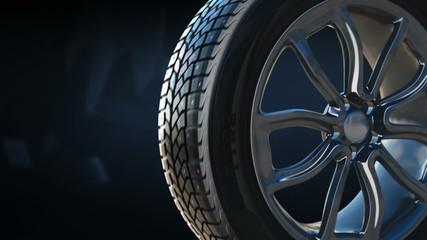 Tyre construction scheme background concept