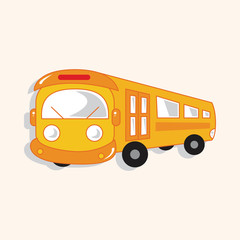 transportation bus theme elements vector,eps