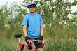 male cyclist with bike