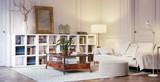 Lesezimmer in Altbauwohnung