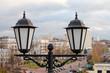 Фонарь на фоне города. Республика Беларусь. Витебск
