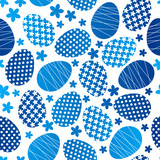 Fototapety Seamless pattern with Easter eggs