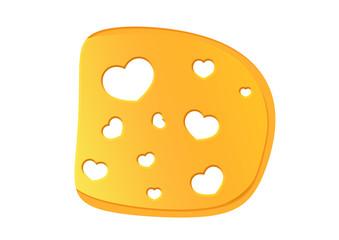 Käsescheibe mit Herzen