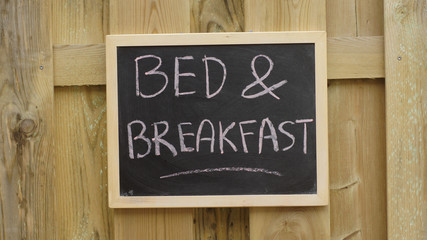Bed and breakfast written