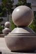 Decorative stone element sunlit