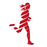 Abstract running woman