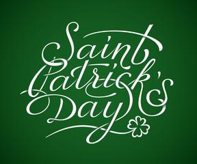 Saint Patricks Day lettering