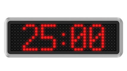 4K - Red led dot display with 30 seconds countdown