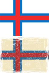 Faroe Islands grunge flag. Vector illustration