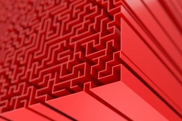 Huge labyrinth: original three dimensional model.