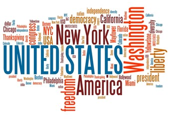 USA word cloud