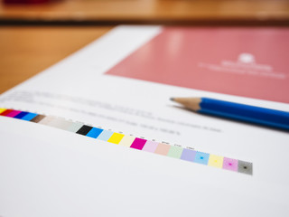 Colour chart on Digital Printing Offset Industry work process
