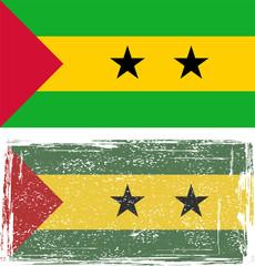 Sao Tome and Principe grunge flag. Vector illustration