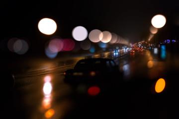 Highway defocused background