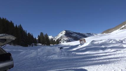 Snowmobile Trails Ahead