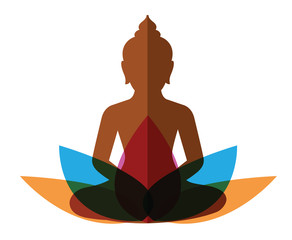 meditation budha with lotus