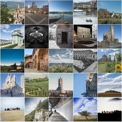 Toscana collage