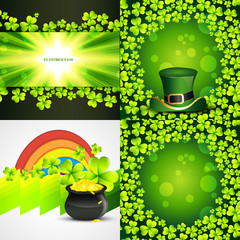 collection of saint patrick's day background