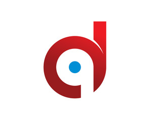 D Q initials monogram