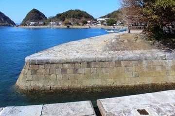 三角西港の遺構 明治の岸壁