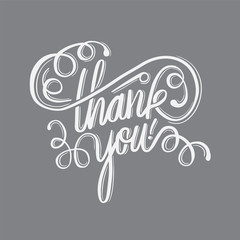 Thank you in cursive script