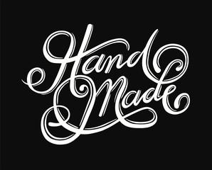 Handmade cursive font vector