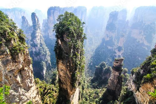 Fotobehang Canyon Hallelujah Mountain Peak in Wulingyuan, Zhangjiajie, China