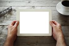 """Постер, картина, фотообои """"Digital tablet with blank screen"""""""