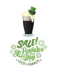 St patricks day sale advertisement vector