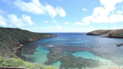 Hanauma bay snorkeling place in Hawaii