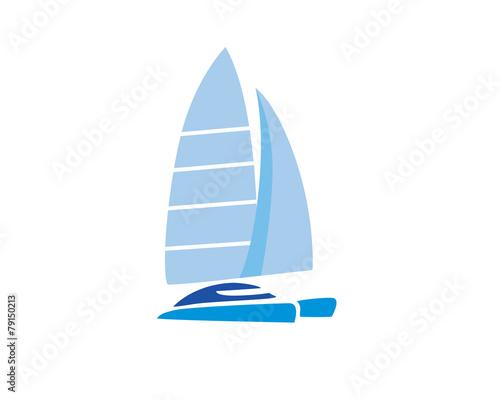 Catamaran Sailing Boat - 79150213
