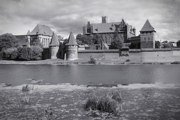 Poland - Malbork. Black and white.