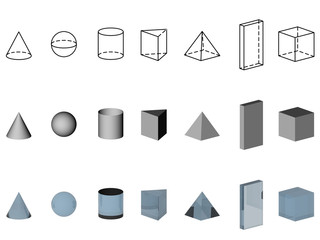 Illustratie van geometrische figuren