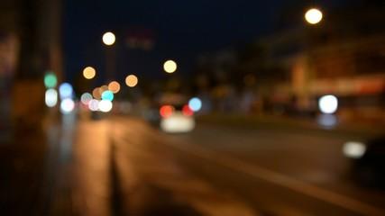 street a bokeh