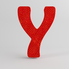 Strawberry Letter Y
