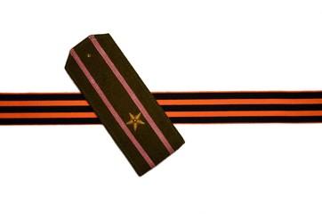 Major shoulder straps. Soviet army