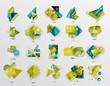 Modern abstract geometric info banner set