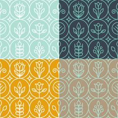 Vector mono line graphic design templates