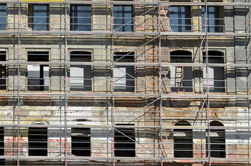 fassade, wohnbau, renovierung