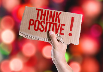 Think Positive! card with colorful background