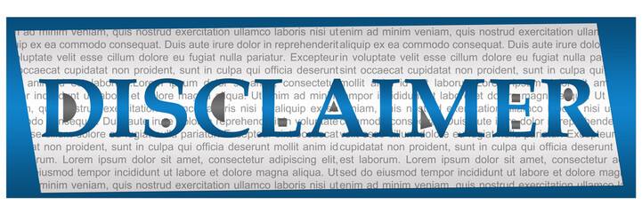 Disclaimer Blue Grey Textual Block