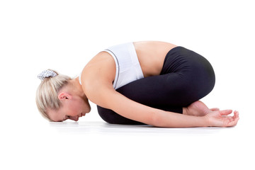 Sport Series: yoga . Childs Pose
