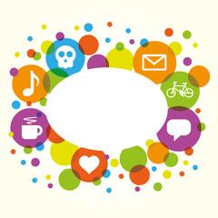 Social network vector internet chat community communication