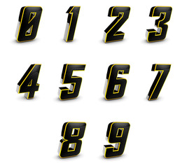 Shiny 3D Digits